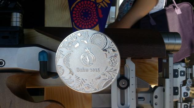 C.Italiani 2015 - medaglia d'argento di Campriani in esposizione