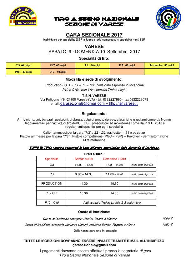 Trofeo Laghi Gara Sezionale 2017-1